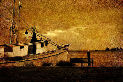 Textured Landscape Photograph - Living In The Past by Susanne Van Hulst