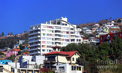 Photograph - Living In Valparaiso Chile by John Rizzuto