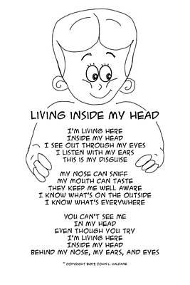 Drawing - Living Inside My Head by John Haldane