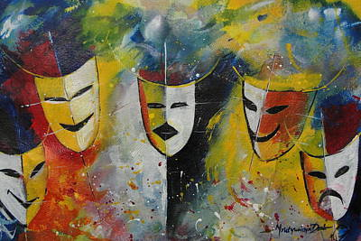 Living Masks Art Print