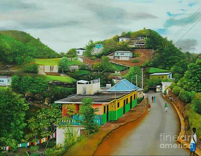 Jamaican Painting - Living On Island Time II by Kenneth Harris