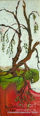Painting - Living On The Edge  by Anna Folkartanna Maciejewska-Dyba