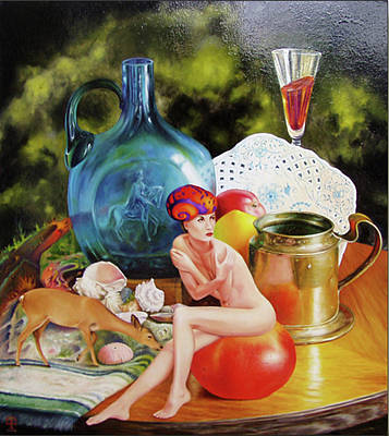 Stemware Painting - Living On The Table Viii. by Tautvydas Davainis