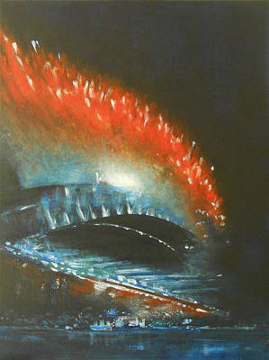 Fireworks Painting - Living Out Loud 2 by Jane See