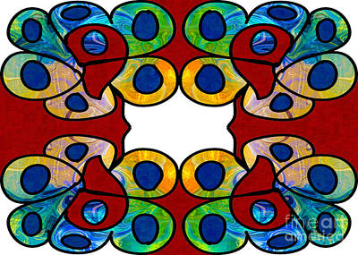 Digital Art - Living Rainbows Abstract Bliss Artwork By Omashte by Omaste Witkowski