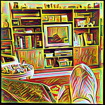Digital Art - Living Room by Anne Thurston