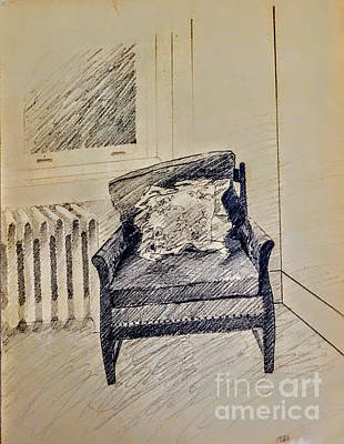 Drawing - Living Room Chair by Suzn Art Memorial
