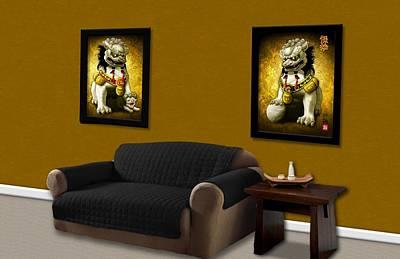 Digital Art - Living Room Scenario by John Wills