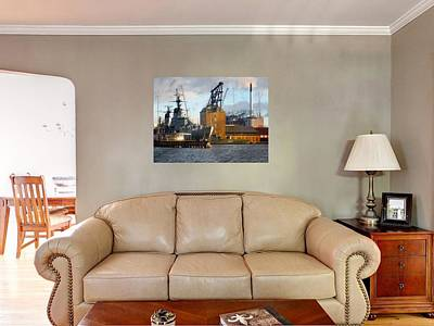 Photograph - Living Room With Ships At Holmen by Dorothy Berry-Lound