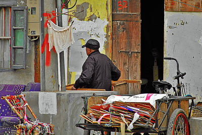 Cart Photograph - Living The Old Shanghai Life by Christine Till