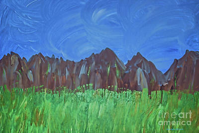 Photograph - Acrylic Mountain Range by Roberta Byram