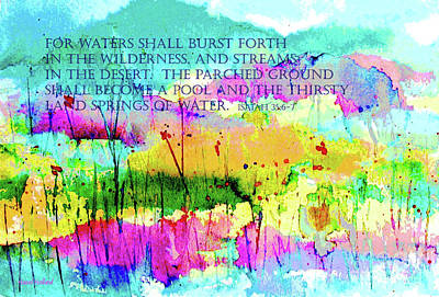 Painting - Living Water by Hazel Holland