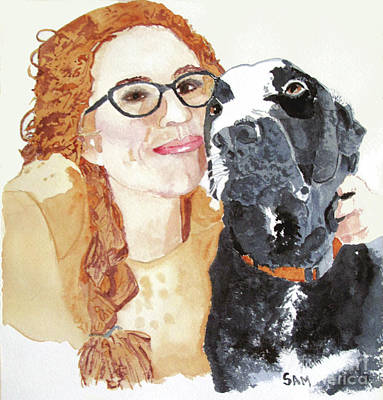 Painting - Livvy And Amos by Sandy McIntire