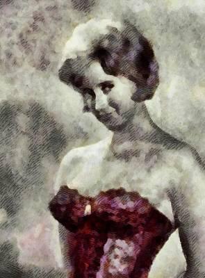Liz Fraser, Carry On Actress Print by John Springfield