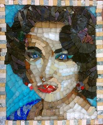 Mitch Brookman Glass Art - Liz In Memorium by Mitch Brookman