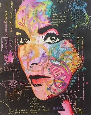 Mixed Media - Liz In The Sky With Diamonds by Dean Russo