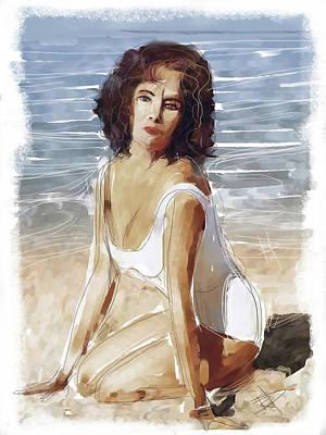 Liz Taylor Digital Art - Liz by Russell Pierce
