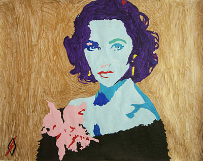 Painting - Liz Taylor by Stormm Bradshaw