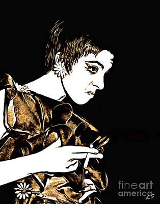 Drawing - Liza Minelli Collection-1 by Sergey Lukashin