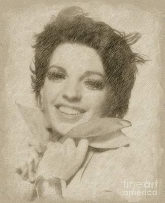 Fantasy Drawings - Liza Minnelli, Actress by Frank Falcon