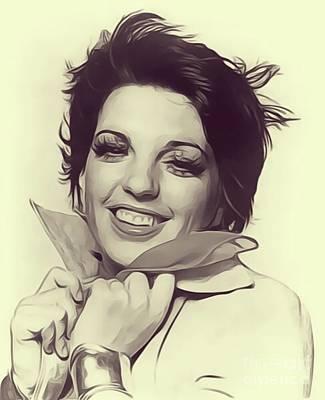 Liza Minnelli Digital Art - Liza Minnelli, Vintage Actress by John Springfield