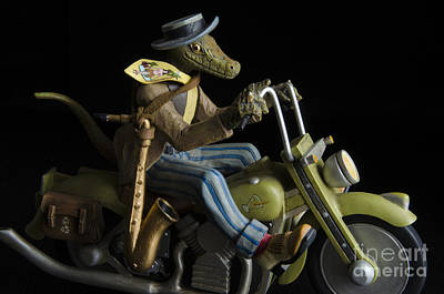 Whimsy Photograph - Lizard Bikers 3 by Bob Christopher