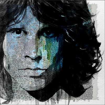 Mixed Media - Lizard King  Jim Morrison  by Paul Lovering
