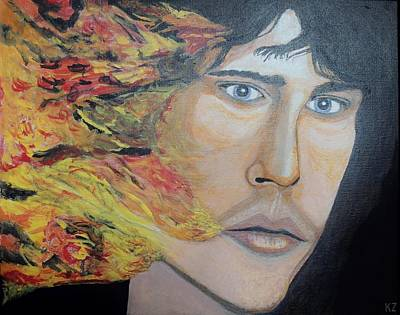 Lizard King Light My Fire. Art Print