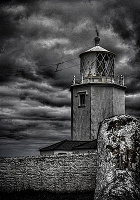 Black Light Paint Photograph - Lizard Lighthouse Cornwall by Martin Newman