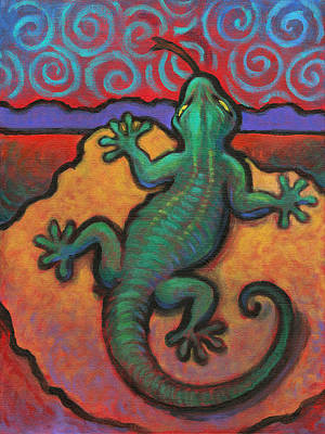 Painting - Lizard by Linda Ruiz-Lozito