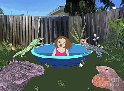Digital Art - Lizard People by Megan Dirsa-DuBois
