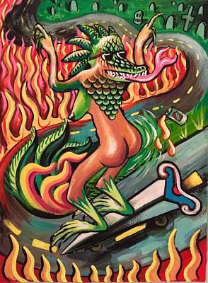 Lizard Queen Original by Britt Kuechenmeister