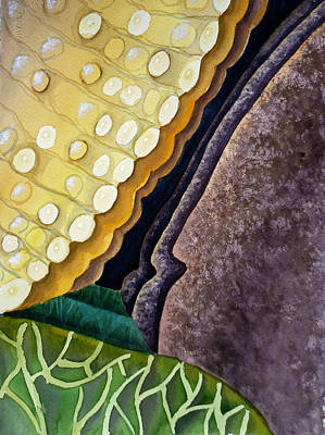 Lizards Painting - Lizard Skin Abstract IIi by Irina Sztukowski