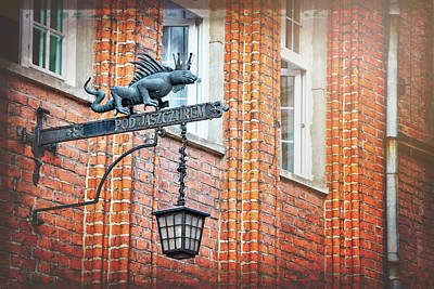 Photograph - Lizard Street Lamp In Gdansk Poland  by Carol Japp