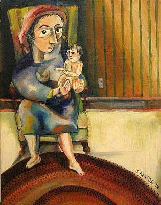 Painting - Lizzie Meyer With Infant by John Keaton