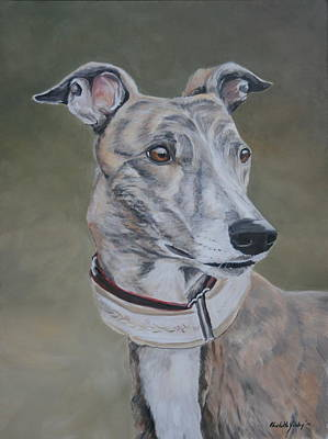 Rescued Greyhound Painting - Lizzy by Charlotte Yealey