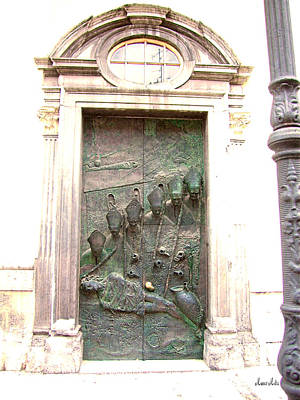 Ljubljana Bronze Church Door Art Print by Marko Mitic