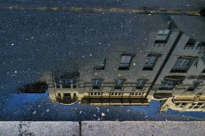 Photograph - Ljubljana Building Reflection - Slovenia by Stuart Litoff