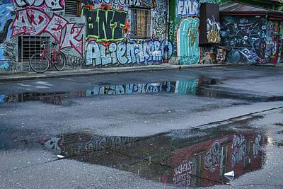 Ljubljana Graffiti Reflections #2 - Slovenia Art Print