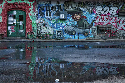 Photograph - Ljubljana Graffiti Reflections #3 - Slovenia by Stuart Litoff