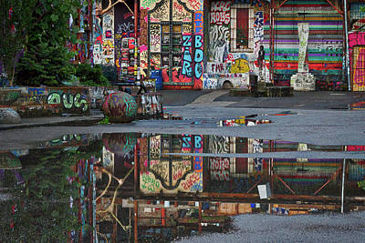 Ljubljana Graffiti Reflections - Slovenia Art Print