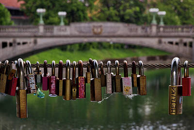 Photograph - Ljubljana Love Locks - Slovenia  by Stuart Litoff