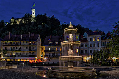 Photograph - Ljubljana Night Scene #3 - Slovenia by Stuart Litoff