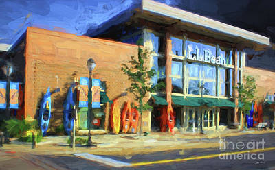 Mixed Media - Ll Bean Store At The Promenade In Pa by Heinz G Mielke