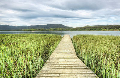 Shore Photograph - Llac De Banyoles In Catalonia by Marc Garrido