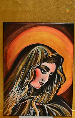 Painting - lLady of sorrows by Sandro Ramani