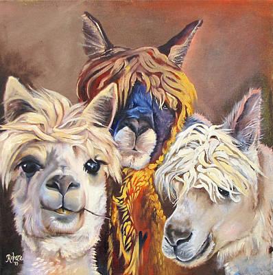 Llama Love Original by Carole Robare