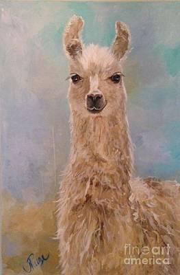 Painting - Llama Love by Julie Clanton