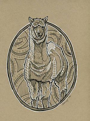 Llama Painting - Llama by Rob Tokarz