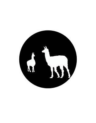 Llama Digital Art - Llamas by Steph J Marten